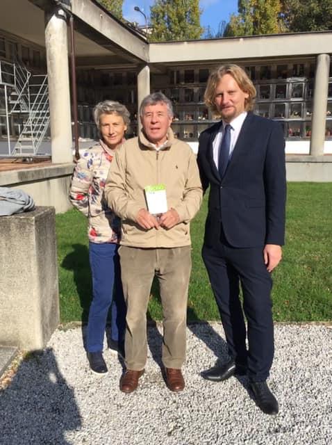 Emeritní děkan a profesor Fakulty ekonomických a sociálních věd Univerzity v Ženevě Pierre Allan (s českými kořeny) s paní na návštěvě diecéze