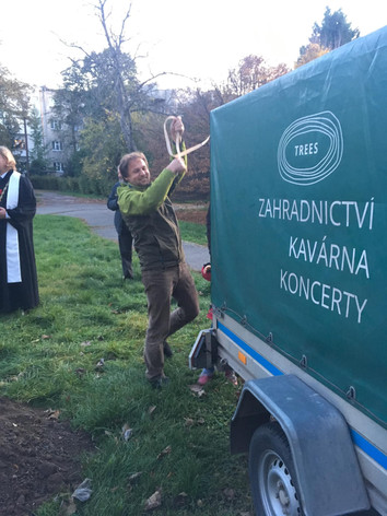 Petr Pacák a jeho zahradnictví Trees sponzorsky sázeli