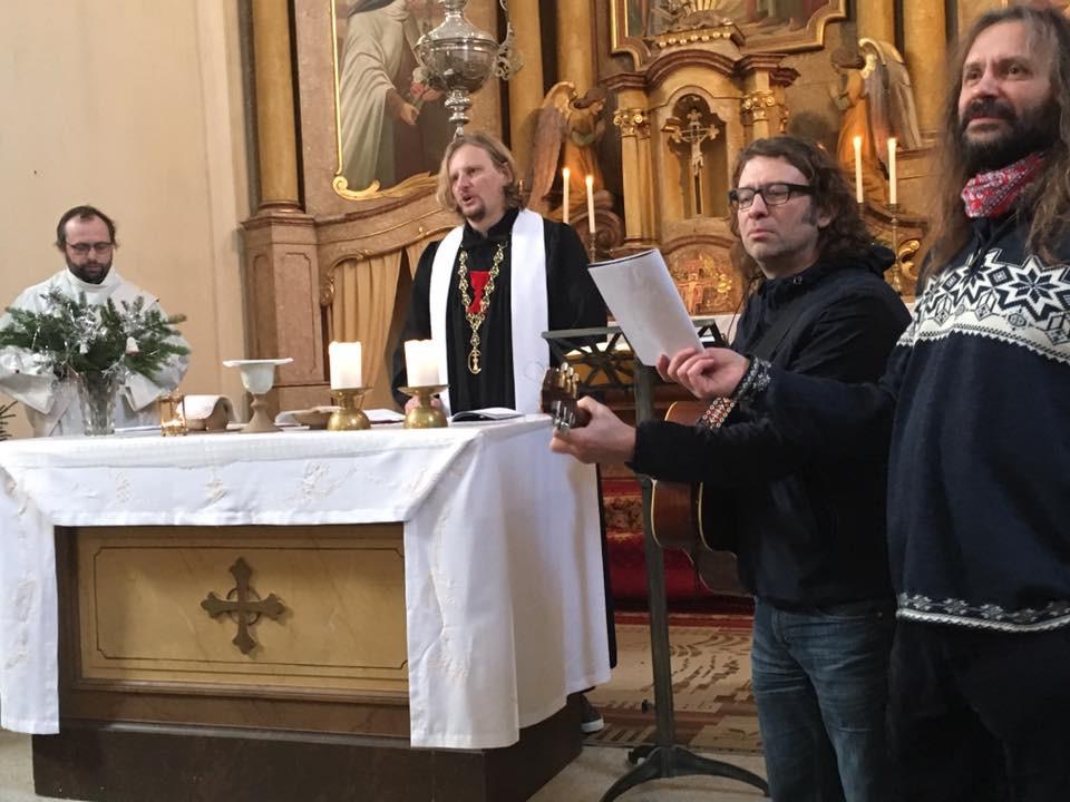 Novoroční bohoslužba na Malé Úpě