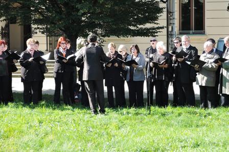 Pěvecký soubor Smetana při zahájení Diecézního dne