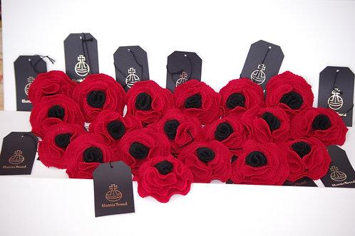 Harris Tweed Flower Poppy,s  SOLD