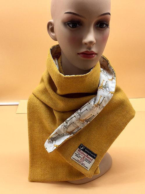 Harris Tweed Scarf/ Cotton Lining