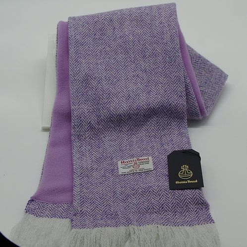 Harris Tweed Scarf/ Fleece Lining