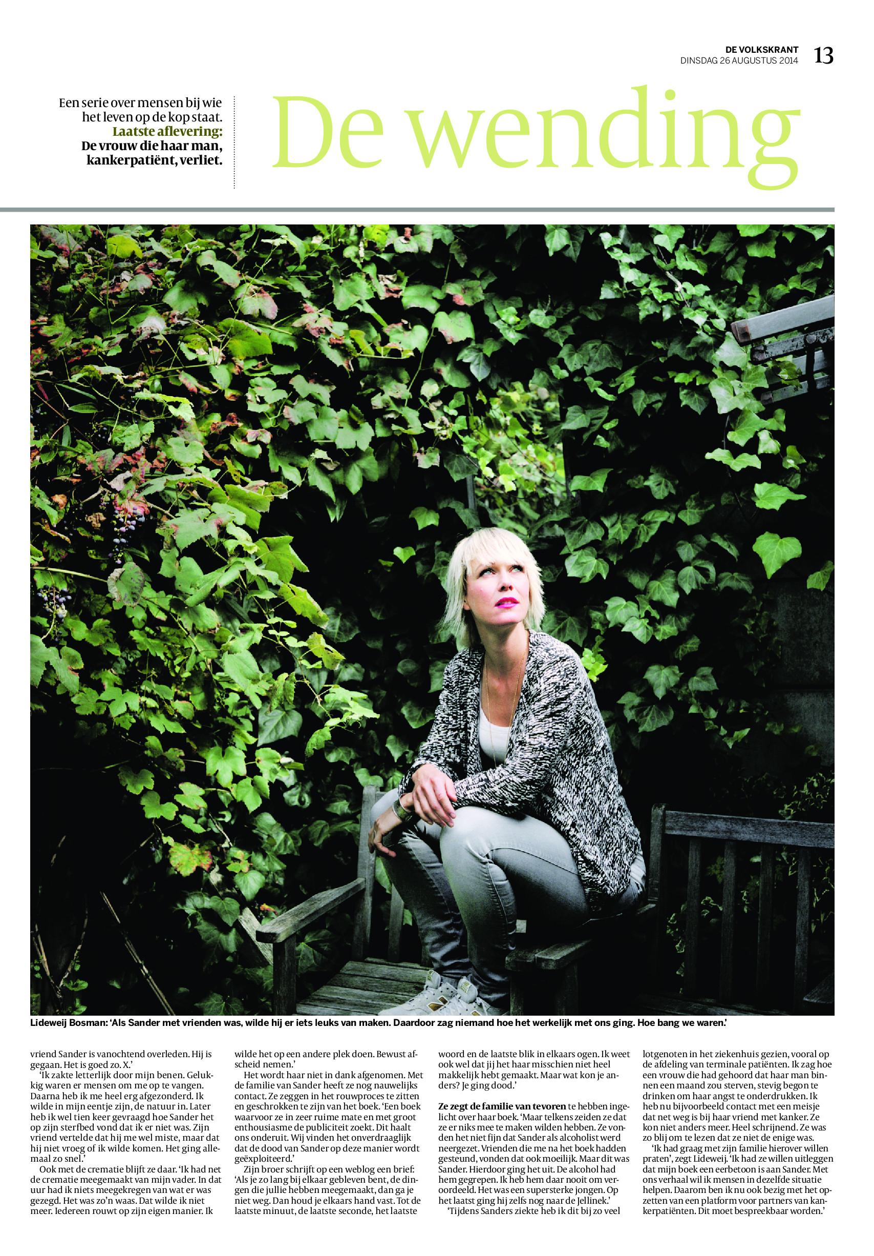 De Volkskrant De Wending 2 26 augustus 2014