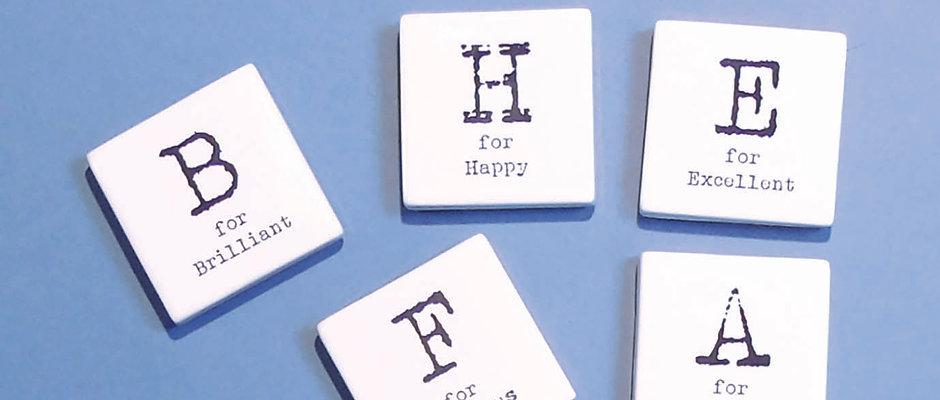 Letter Fridge Magnets