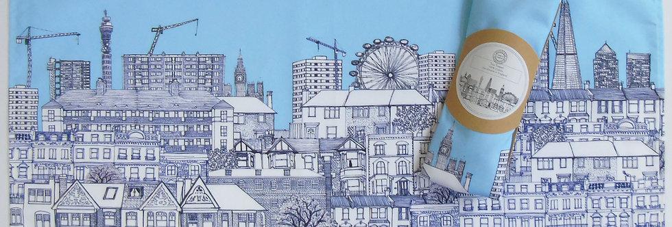 London Houses Tea Towel