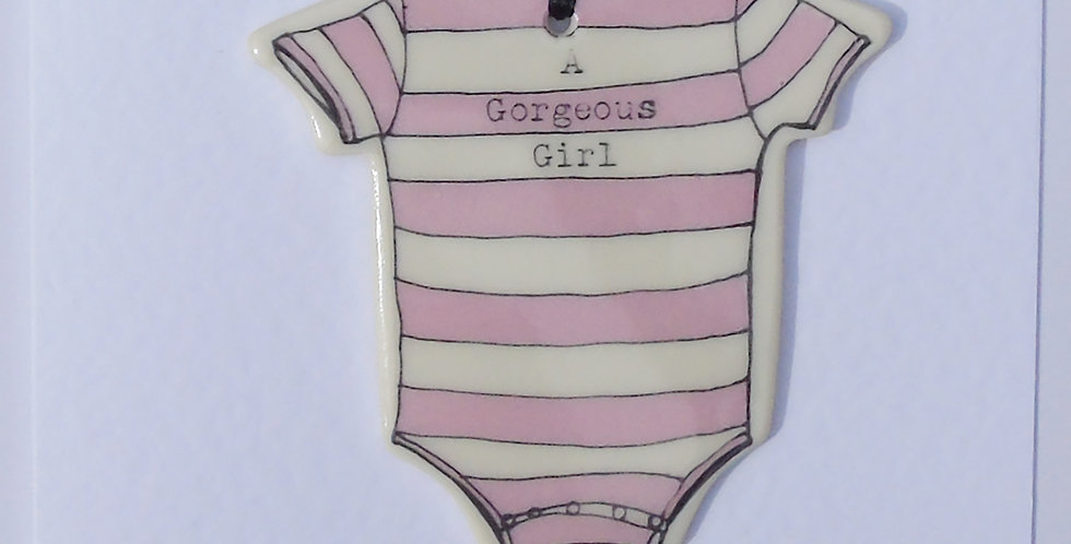 New baby grow card