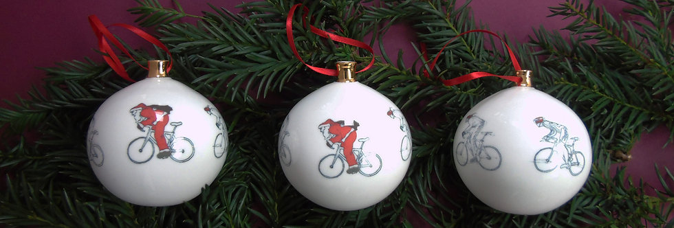 Father Christmas On a Bike