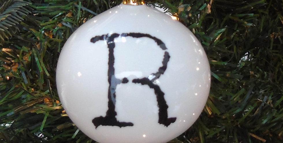 R Letter Bauble