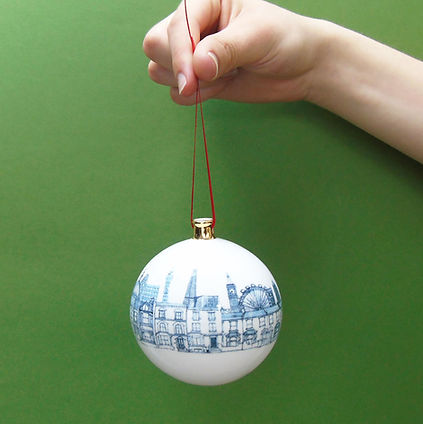 Christmas Collection London Bauble on green.jpg