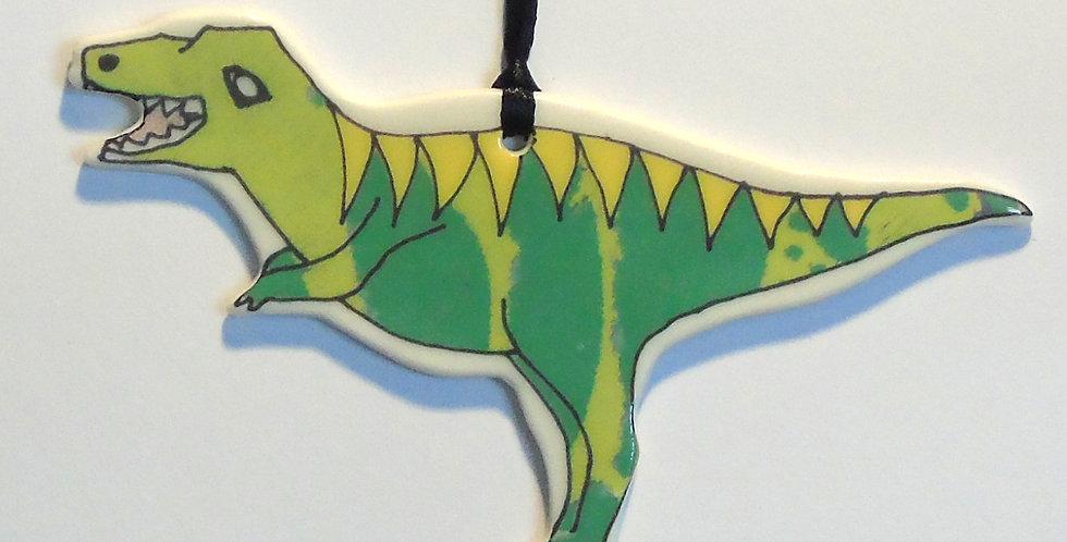 T - Rex porcelain decoration