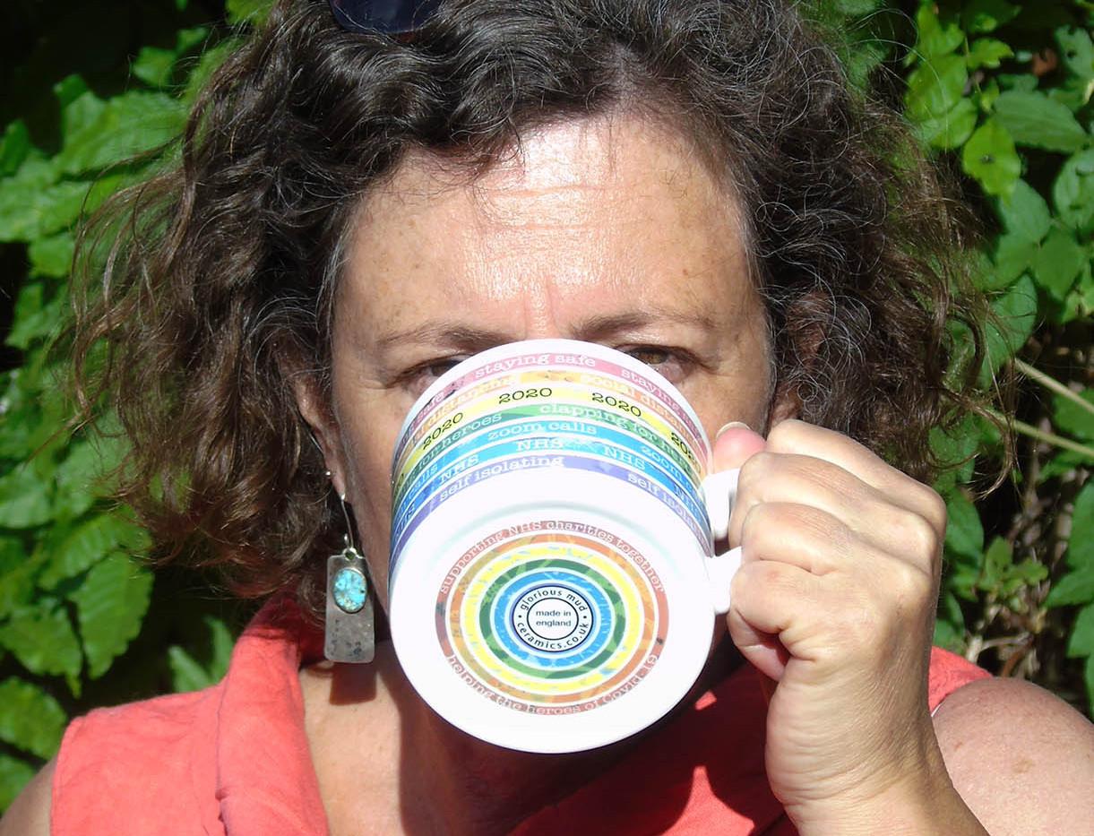 Rainbow mug and Cress 1.jpg