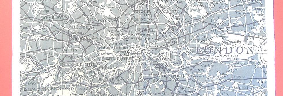 london map tea towel