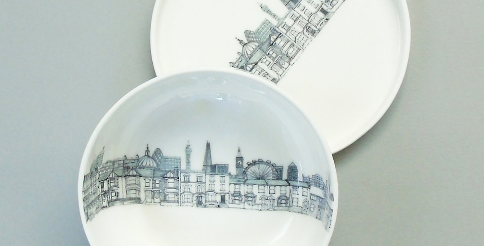 London bowl and plate set