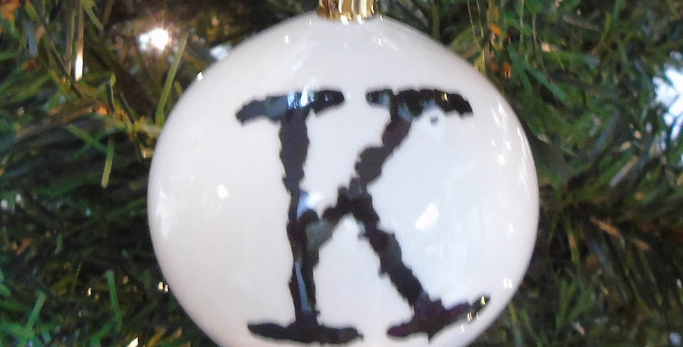 K Letter Bauble