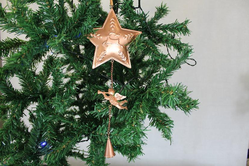 Suspension étoile 45cm cuivre