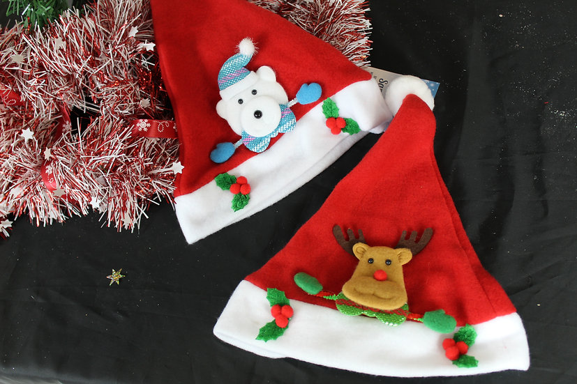 Bonnet Noël enfant motif
