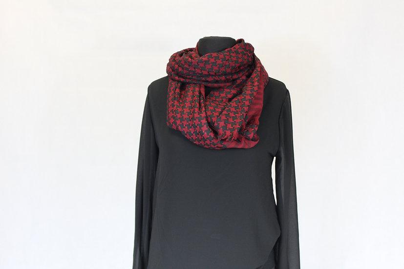 Foulard motif Noir