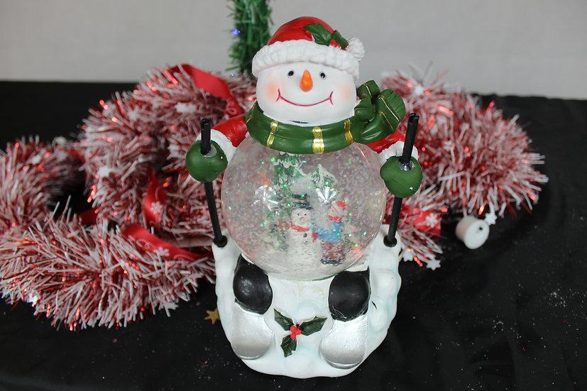Boule à eau bonhomme de neige+LED et musique