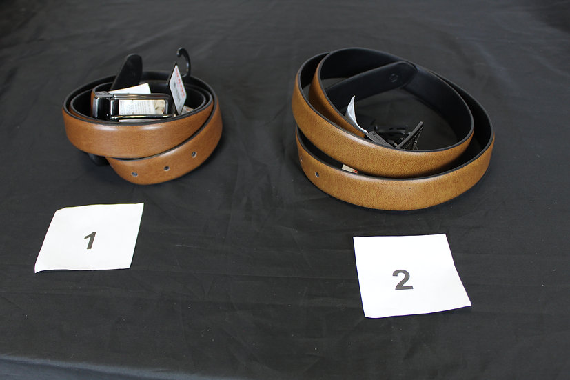 Ceinture 1 Noir /Cognac, 2 Noir/ Marine