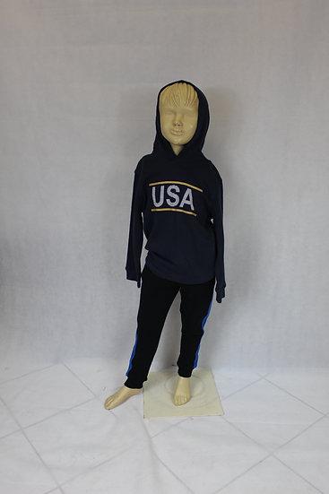 """Sweat à capuche Bleu """"USA"""""""