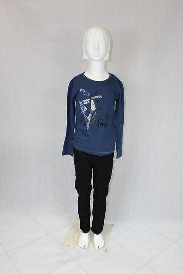 T-shirt Manche Longue enfant Bleu ou Beige avec motif