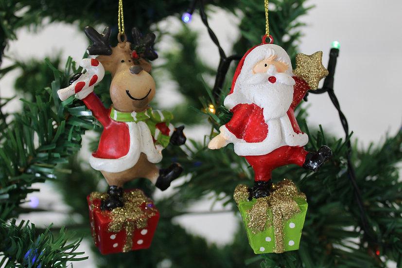 Personnage sur cadeau Rouge / Vert