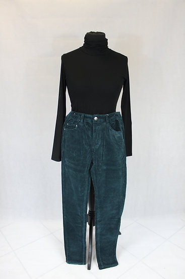 Pantalon velour vert émeraude