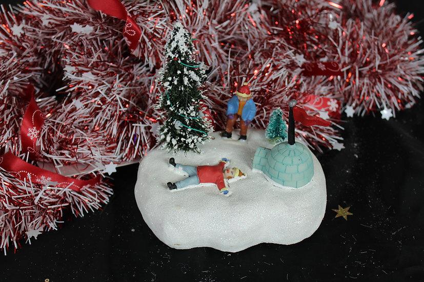 Scène LED enfants neige