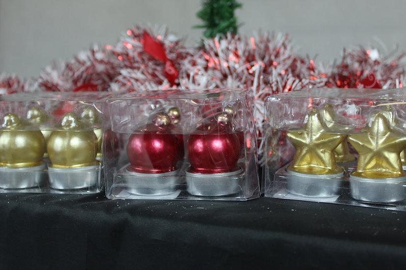 Lot de 4 Chauffe-plats motifs Noël assortis