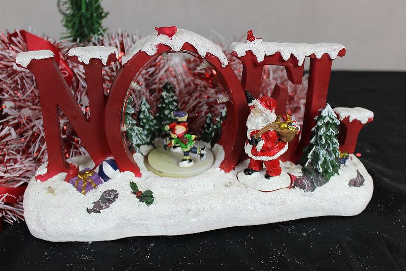 Scène Noël ou patineur tournant