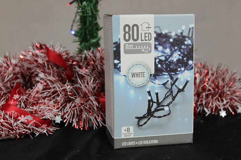 Guirlande 80led blanc froid exterieur