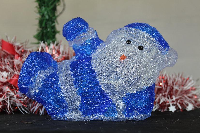 Père Noël Lumineux sur pile 13cm