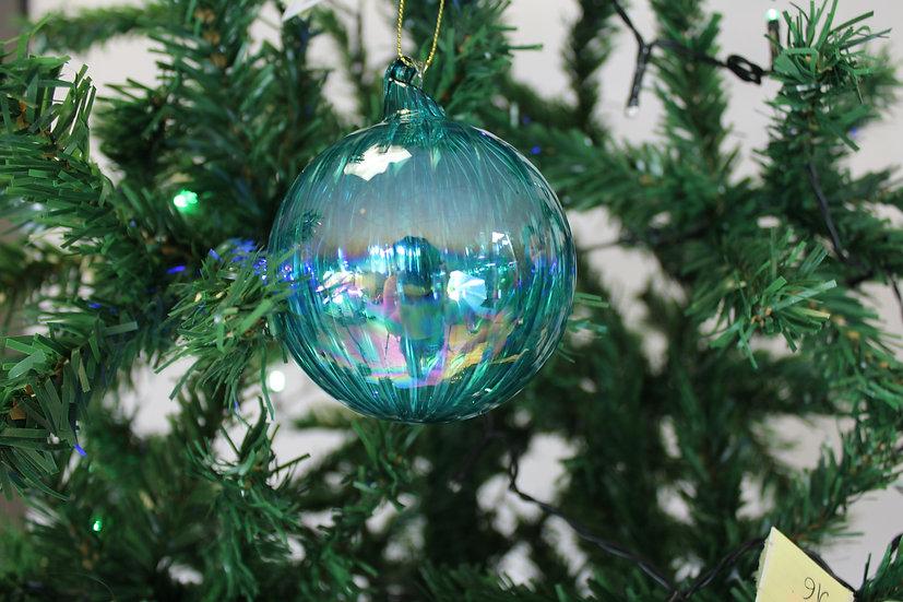 Boule en verre Bleu  8cm