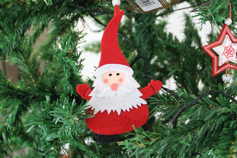Suspension Père Noël Rouge feutrine