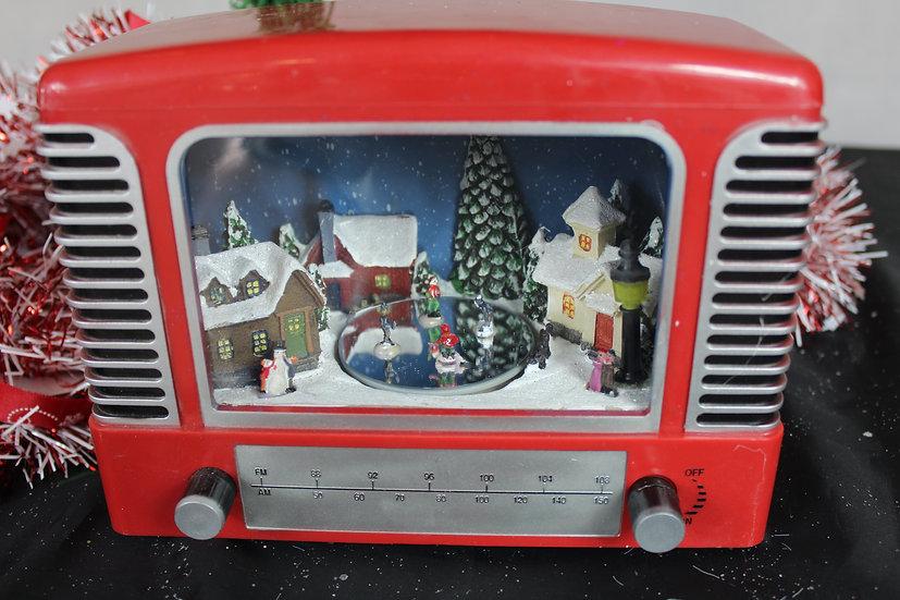 Radio scène LED Noël village