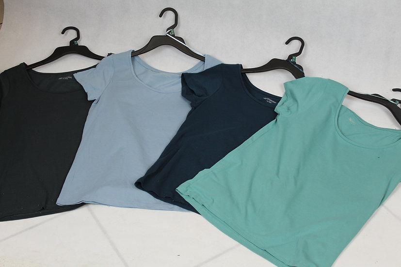 T-shirt Femme Gris, Bleu canard, Vert bleu clair