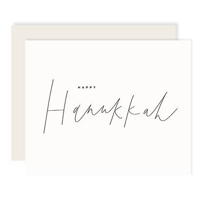 Happy Hanukkah Script Card