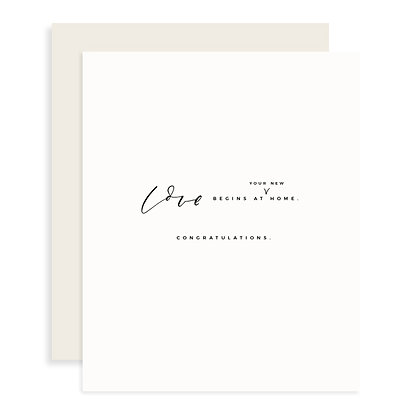 Love Begins At Home Card