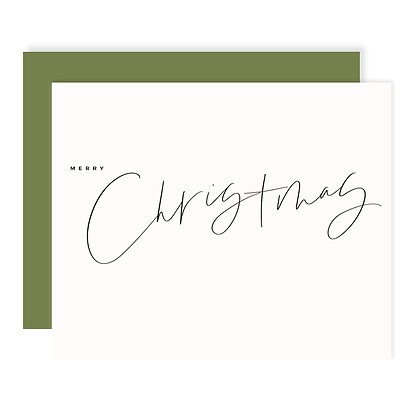 Merry Christmas Script Card