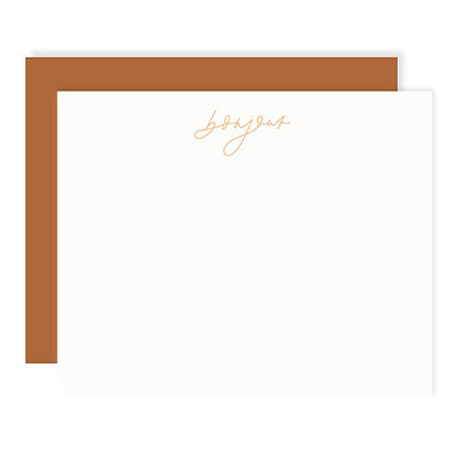 Bonjour Flat Card Set of 8