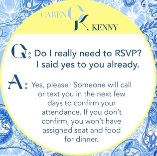 Wedding FAQ