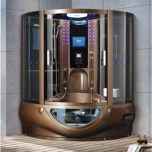 Shower Steam Mult-Functional TV Computer Control Wet Sauna Room 7030