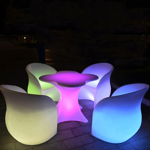 Lounge Chair Armchair Luminous Led Bar Chair Living Room Bar Furniture Barstool