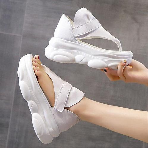 Chunky  Platforms 6.5cm Wedge Toe Sandals