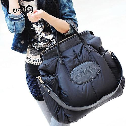 Handbags Warm Tote Bag Fashion Space  Large Package Down Bag Sac a Main Bolsa