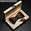 Thumbnail: Natural Brid Feather Hand Made Men Bow Tie Brooch Pin Wooden Gift Box Set
