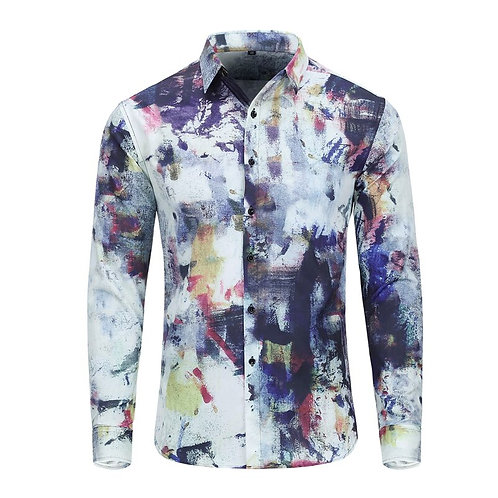 Printed Flower Shirt Male