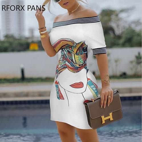 Tape Bodycon Dress  Casual Dress  Elegant Fashion Chic Dress
