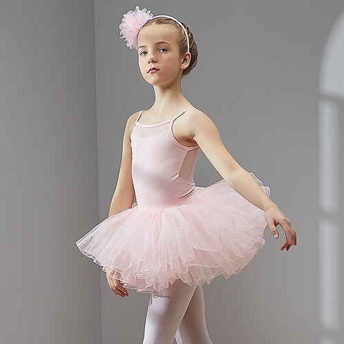 Ballet Dress Dance  Tutu Dress for Girls Kidsy Short Sleeves Tulle Dance Wear